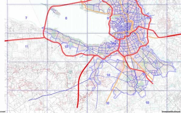 Схема развития улично-дорожной сети Санкт-Петербурга до 2025 года (приложение к Генеральному плану СПб).